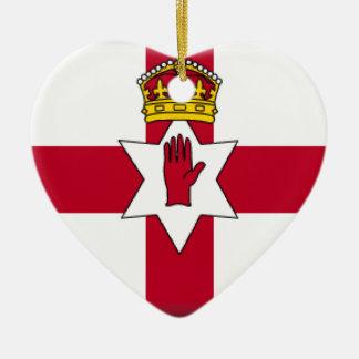 Northern Ireland (Ulster) Flag Ceramic Heart Decoration