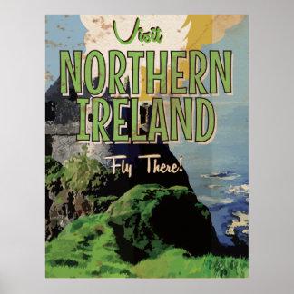 Northern Ireland vintage travel poster
