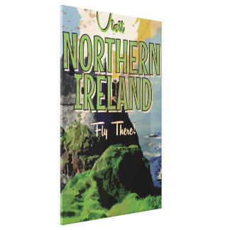 Northern Ireland vintage travel poster Gallery Wrapped Canvas