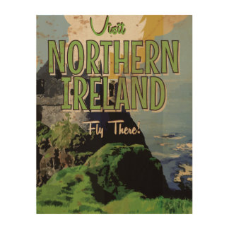 Northern Ireland vintage travel poster Wood Canvases