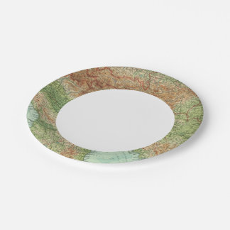 Northern Italy, Austria, &c 7 Inch Paper Plate