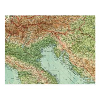 Northern Italy, Austria, &c Postcard