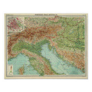Northern Italy, Austria, &c Poster