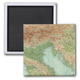 Northern Italy, Austria, &c Square Magnet
