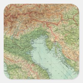 Northern Italy, Austria, &c Square Sticker