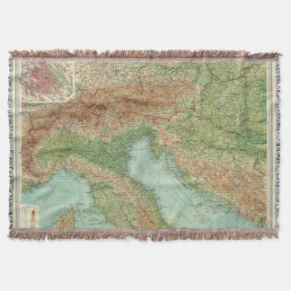 Northern Italy, Austria, &c Throw Blanket