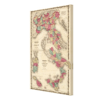 Northern Italy Southern Italy Canvas Print