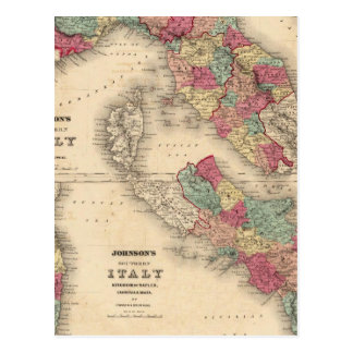Northern Italy Southern Italy Postcard