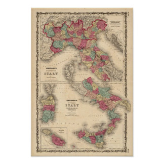 Northern Italy Southern Italy Poster
