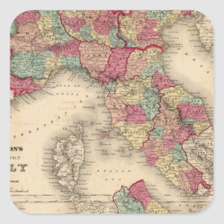 Northern Italy Southern Italy Square Sticker