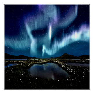 Northern light Borealis Norway by healing love Posters