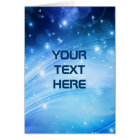 Northern Light Stars blue + your text & ideas Card