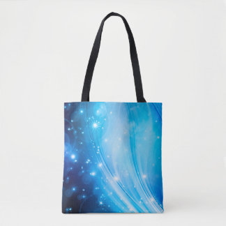 Northern Light Stars blue + your text & ideas Tote Bag