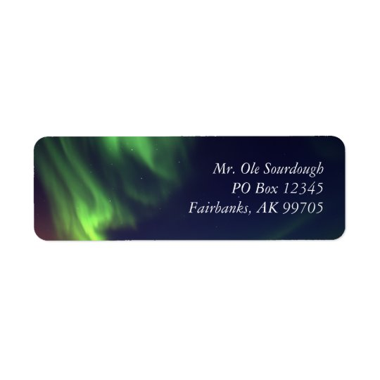 Northern Lights Address Label