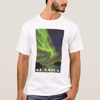 Northern Lights and Orcas - Dawson, Alaska T-Shirt