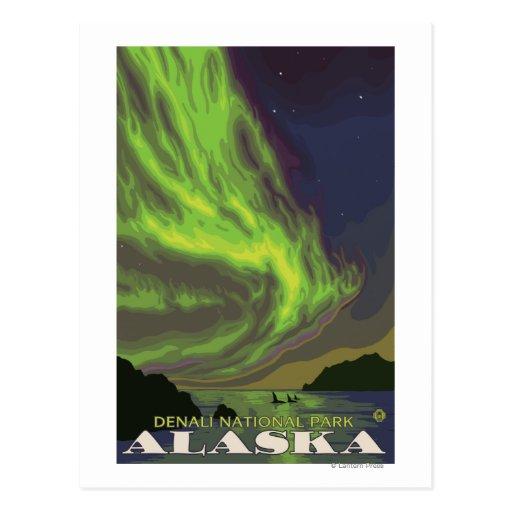 Northern Lights and Orcas - Denali Nat'l Park, Postcard