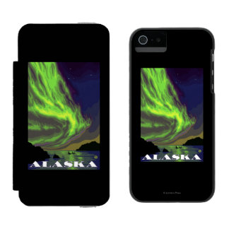 Northern Lights and Orcas Vintage Travel Incipio Watson™ iPhone 5 Wallet Case