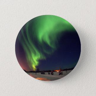 Northern Lights at Bear Lake 6 Cm Round Badge