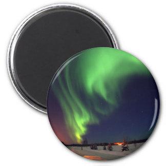 Northern Lights at Bear Lake 6 Cm Round Magnet
