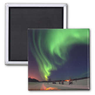 Northern Lights at Bear Lake Square Magnet