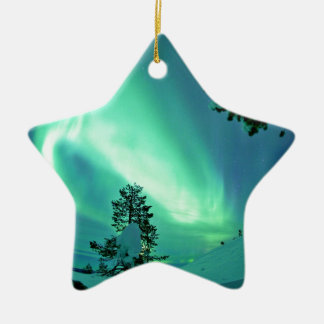 Northern Lights at Winter Christmas Ornament