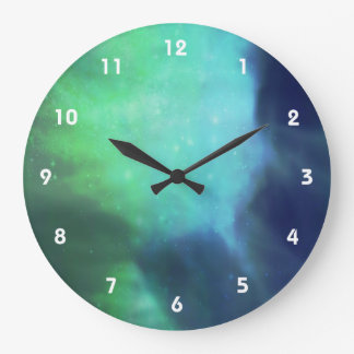 Northern Lights / Aurora Borealis Large Clock