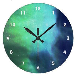 Northern Lights / Aurora Borealis Large Clock