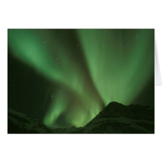 Northern lights, Aurora borealis on foothills of Card