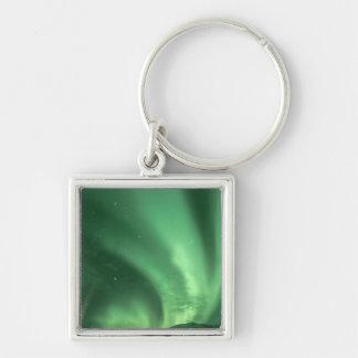 Northern lights, Aurora borealis, over foothills Key Ring