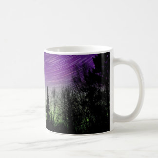 Northern Lights - Aurora Borealis - Star Trails Coffee Mug