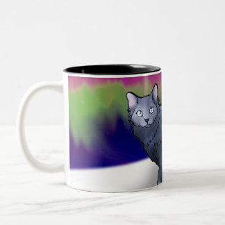 Northern Lights Cat (Aurora) Mug