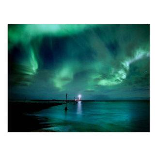 Northern Lights Iceland Postcard