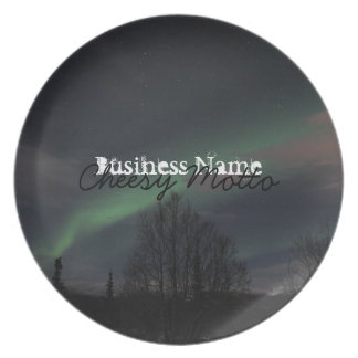 Northern Lights in Boreal Forest Dinner Plates
