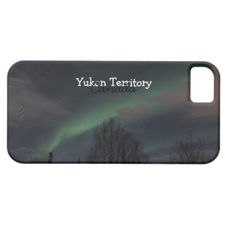 Northern Lights in Boreal Forest; Yukon Souvenir Case For The iPhone 5