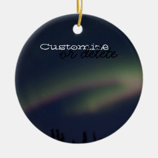 Northern Lights Loop; Customizable Round Ceramic Decoration
