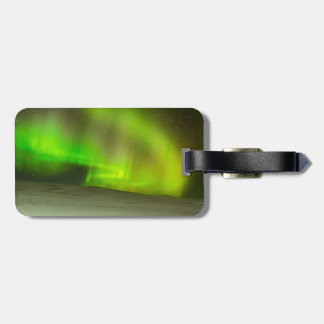 Northern Lights Luggage Tag w/ leather strap