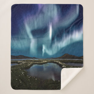 Northern Lights Medium Sherpa Fleece Blanket