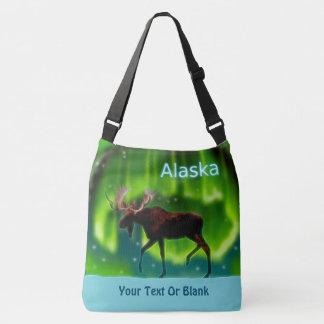 Northern Lights Moose - Alaska Crossbody Bag