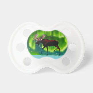 Northern Lights Moose Pacifier