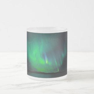 Northern Lights 10 Oz Frosted Glass Coffee Mug