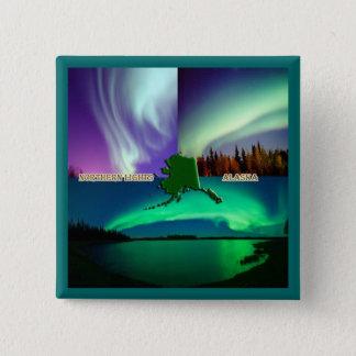 Northern Lights of Alaska Collage 15 Cm Square Badge