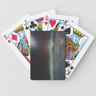 Northern Lights on the Horizon Poker Deck