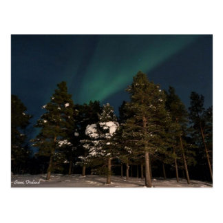 Northern Lights Over Inari, Finland - Postcard
