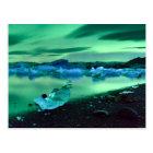 Northern Lights over Jokulsarlon lake, Iceland Postcard
