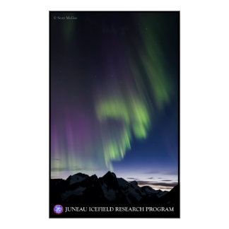 Northern Lights over the Juneau Icefield Poster