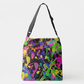 Northern Lights Paint Splatters Crossbody Bag