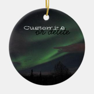 Northern Lights Show; Customizable Christmas Ornament
