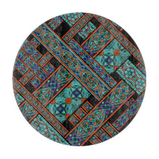 Northern Lights Stained Glass Chopping Board