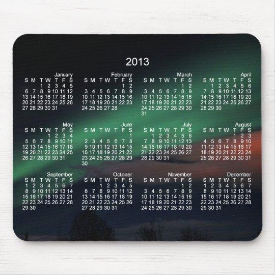 Northern Lights Starry Sky; 2013 Calendar Mouse Mat