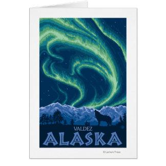 Northern Lights - Valdez, Alaska Greeting Card